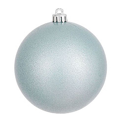 3 Inch Baby Blue Candy Round Ornament 12 per Set