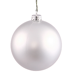 4 Inch Silver Matte Finish Round Ornament - UV Resistant