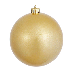 4 Inch Gold Candy Round Ornament 6 per Set