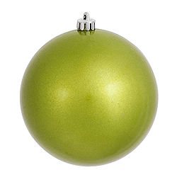 4 Inch Lime Candy Round Ornament 6 per Set