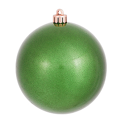 4 Inch Lime Green Pearl Finish Round Christmas Ball Ornament Shatterproof 4 per Set