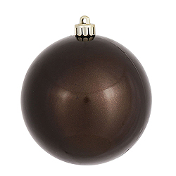 4 Inch Chocolate Pearl Finish Round Ornament