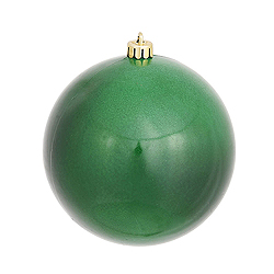 4 Inch Emerald Candy Round Ornament 6 per Set