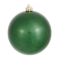 4 Inch Emerald Pearl Finish Round Ornament