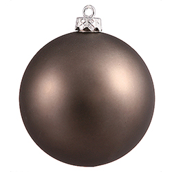 4 Inch Pewter Silver Matte Finish Round Christmas Ball Ornament Shatterproof UV 6 per Set