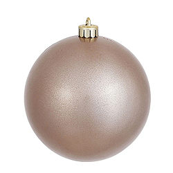 4 Inch Pewter Pearl Finish Round Ornament