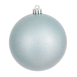 4 Inch Baby Blue Pearl Finish Round Ornament