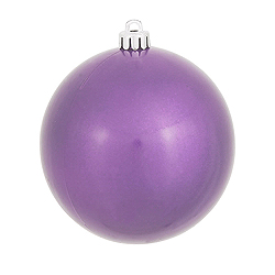 4 Inch Lavender Pearl Finish Round Ornament