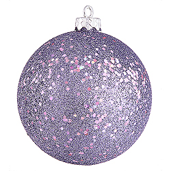 4 Inch Lavender Sequin Round Ornament