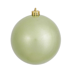 4 Inch Celadon Pearl Finish Round Ornament