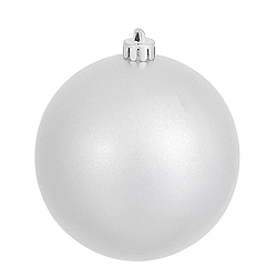 4.75 Inch Silver Pearl Finish Round Ornament