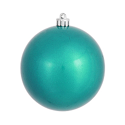 4.75 Inch Turquoise Pearl Finish Round Ornament