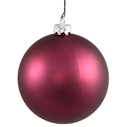 4.75 Inch Plum Matte Ornament