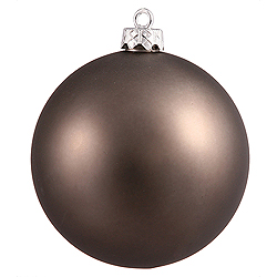 4.75 Inch Pewter Matte Round Shatterproof UV Christmas Ball Ornament 4 per Set