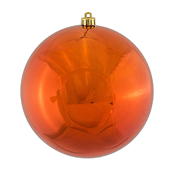 4.75 Inch Copper Shiny Round Shatterproof UV Christmas Ball Ornament 4 per Set
