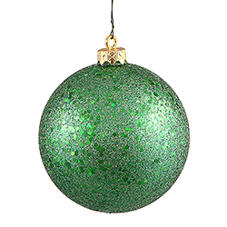 6 Inch Green Sequin Finish Ornament