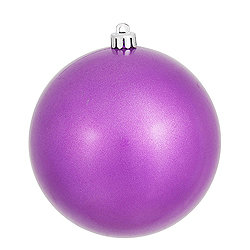 6 Inch Orchid Candy Round Shatterproof UV Christmas Ball Ornament 4 per Set