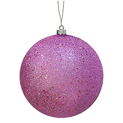 6 Inch Orchid Sequin Finish Ornament