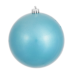 6 Inch Turquoise Candy Round Shatterproof UV Christmas Ball Ornament 4 per Set