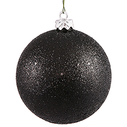 6 Inch Black Sequin Finish Ornament