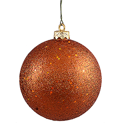 6 Inch Burnish Orange Sequin Finish Ornament
