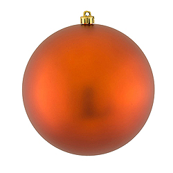 6 Inch Copper Matte Round Shatterproof UV Christmas Ball Ornament 4 per Set