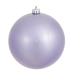 6 Inch Lavender Candy Round Shatterproof UV Christmas Ball Ornament 4 per Set