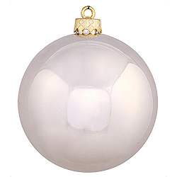 6 Inch Champagne Shiny Round Shatterproof UV Christmas Ball Ornament 4 per Set