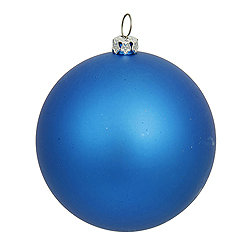 8 Inch Blue Matte Round Ornament