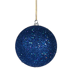 8 Inch Blue Sequin Round Ornament