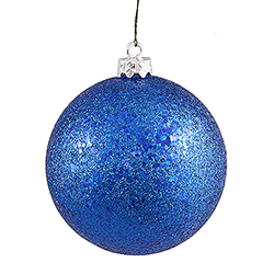 8 Inch Blue Sequin Finish Ornament