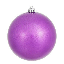 8 Inch Orchid Candy Round Christmas Ball Ornament