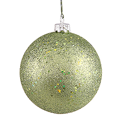8 Inch Lime Sequin Finish Ornament