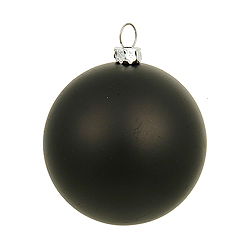8 Inch Black Matte Round Ornament