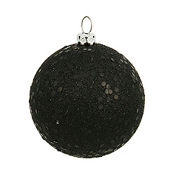 8 Inch Black Sequin Round Ornament
