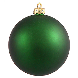 8 Inch Emerald Matte Round Ornament