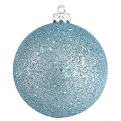 8 Inch Baby Blue Sequin Round Ornament