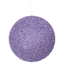 8 Inch Lavender Sequin Round Ornament