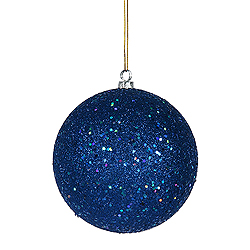 10 Inch Blue Sequin Round Ornament