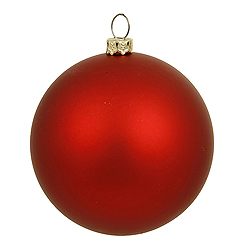 10 Inch Red Matte Round Christmas Ball Ornament