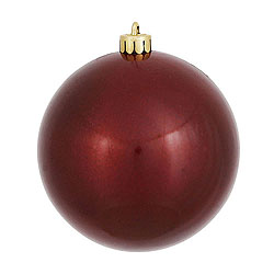 10 Inch Burgundy Candy Round Ornament