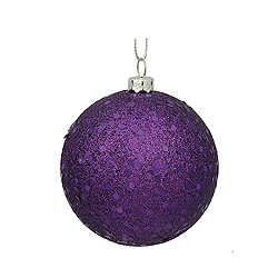 10 Inch Purple Sequin Round Ornament