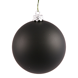 10 Inch Black Matte Round Ornament