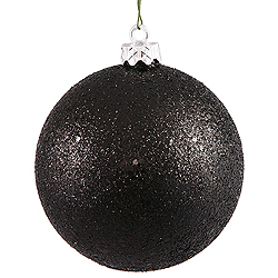 10 Inch Black Sequin Round Ornament
