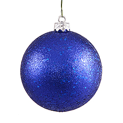 10 Inch Cobalt Sequin Round Ornament