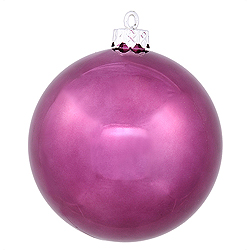 10 Inch Plum Shiny Round Ornament