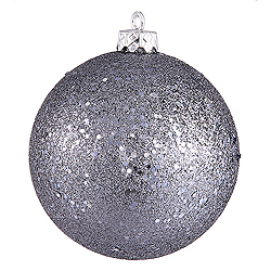 10 Inch Pewter Sequin Round Ornament