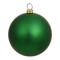12 Inch Green Matte Round Ornament