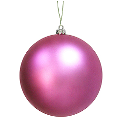 12 Inch Orchid Matte Round Shatterproof UV Christmas Ball Ornament