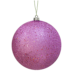 12 Inch Orchid Sequin Round Ornament